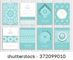 stock vector set of brochures... | Shutterstock .eps vector #372099010