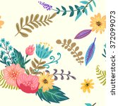 floral seamless pattern | Shutterstock .eps vector #372099073