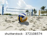 Beach Volleyball Ball In The...