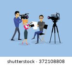 Постер, плакат: Camera crew team people
