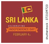 sri lanka independence day | Shutterstock .eps vector #372109723