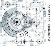 future technology vector... | Shutterstock .eps vector #372110710