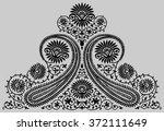 paisley indian beautiful motif | Shutterstock .eps vector #372111649