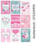 happy valentines day party... | Shutterstock .eps vector #372124993