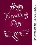 happy valentine's day vintage...   Shutterstock .eps vector #372125278
