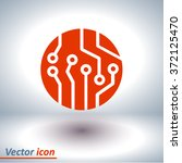 circuit board  icon. technology ... | Shutterstock .eps vector #372125470
