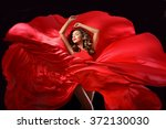 young beauty woman in red... | Shutterstock . vector #372130030