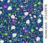 ditsy floral design   seamless... | Shutterstock .eps vector #372130978