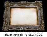 decorative art frame on black... | Shutterstock . vector #372134728
