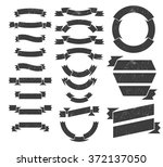a set of banners and ribbons... | Shutterstock .eps vector #372137050