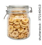 dried banana chips in a glass... | Shutterstock . vector #372140413