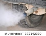 smoke from car pipe exhaust.... | Shutterstock . vector #372142330