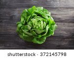 Single Lettuce Head Over Rusti...
