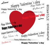 valentine's day with heart and... | Shutterstock .eps vector #372149038