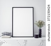 mock up poster frame with on... | Shutterstock . vector #372150424