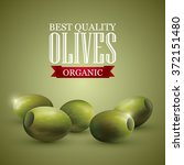 green olives and a logo on... | Shutterstock .eps vector #372151480