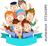 vector cartoon illustration of... | Shutterstock .eps vector #372161890