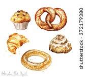 watercolor food clipart  ... | Shutterstock . vector #372179380