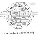 flat style  thin line art... | Shutterstock .eps vector #372185074