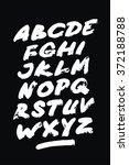 hand drawn grunge font.... | Shutterstock .eps vector #372188788