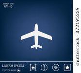 plane icon | Shutterstock .eps vector #372195229