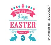 happy easter typographical... | Shutterstock .eps vector #372200374