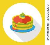 pancake flat icon | Shutterstock .eps vector #372205270