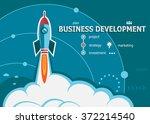 business development concept on ... | Shutterstock .eps vector #372214540