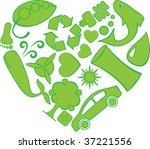 eco doodle heart | Shutterstock .eps vector #37221556