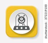 space alien icon | Shutterstock .eps vector #372219100
