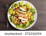orange walnut chicken salad top ... | Shutterstock . vector #372226354