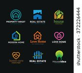 home and real estate logo...   Shutterstock .eps vector #372226444