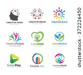 education logo collection ... | Shutterstock .eps vector #372226450
