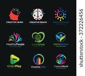 creative logo set design... | Shutterstock .eps vector #372226456