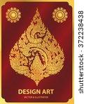 layout thai buddha outline... | Shutterstock .eps vector #372238438