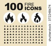 Fire And Flame Icons. Bonfire...
