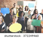 diverse people communication... | Shutterstock . vector #372249460