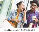 people shopping spending... | Shutterstock . vector #372249523