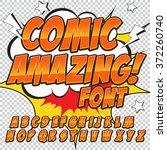 creative high detail comic font....   Shutterstock .eps vector #372260740