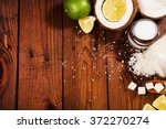 homemade sugar scrub with lime... | Shutterstock . vector #372270274