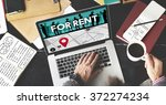 for rent rental available... | Shutterstock . vector #372274234
