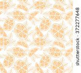 orange. seamless pattern with... | Shutterstock . vector #372277648