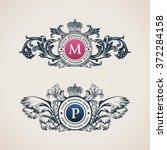 vintage crest logo elements... | Shutterstock .eps vector #372284158