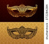 beautiful mask of lace. mardi... | Shutterstock .eps vector #372284284