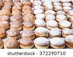 fresh doughnuts with jam ... | Shutterstock . vector #372290710