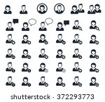 user black icons set  ... | Shutterstock .eps vector #372293773