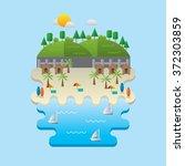 beach landscape | Shutterstock .eps vector #372303859