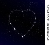 starry heart as a constellation.... | Shutterstock .eps vector #372319198