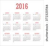 calendar 2016   vector...   Shutterstock .eps vector #372320566