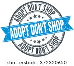 adopt don't shop blue round... | Shutterstock .eps vector #372320650